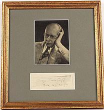 Sergei Prokofiev Autograph and Photograph