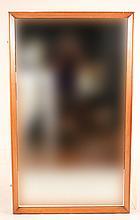 Modern Rectangular Mirror with Wood Frame