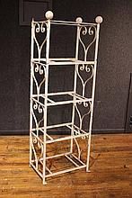 White Painted Wrought Iron Etagere