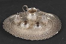 Group of Indian Silver Table Items