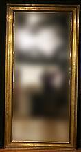 Impressively Large Rectangular Brass Mirror
