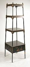 Chinoiserie Style Four Shelf Etagere