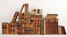 Large Group of Leather Bound Books