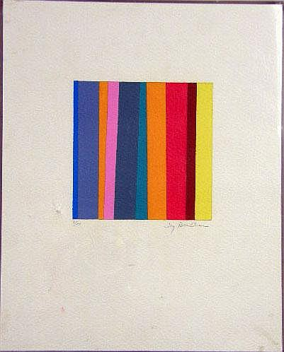 A LIMITED EDITION POLYCHROME ABSTRACT