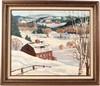 Oil on Canvas, Winterscape, Peter Bela Mayer, Bela Mayer, Click for value