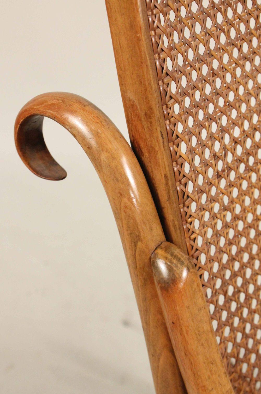 Peachy Thonet Bentwood And Rattan Rocking Chair Inzonedesignstudio Interior Chair Design Inzonedesignstudiocom