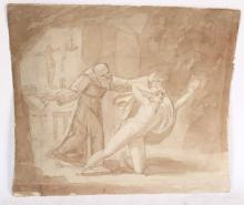 Old Master Ink and Wash, Johann Henrich Fussli