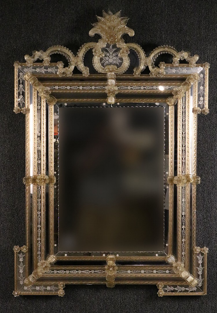 venetian ornate glass mirror