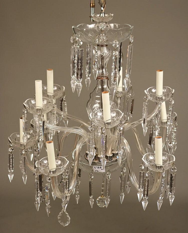 Crystal Venetian Chandeliers: Venetian Style Ten-Light Crystal Chandelier
