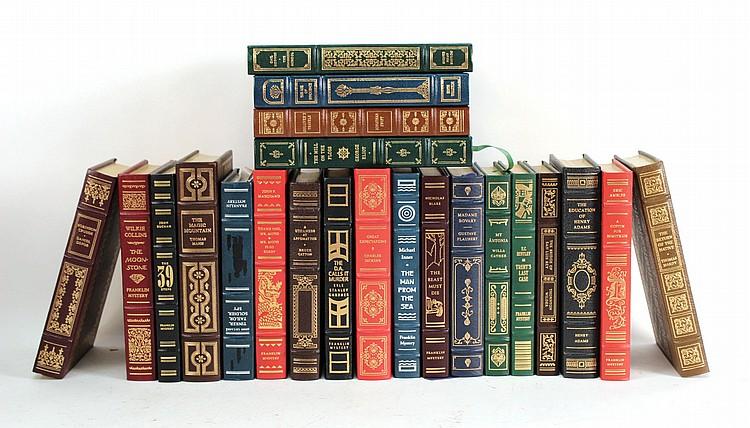 Twenty-Two Leather-Bound Decorative Books