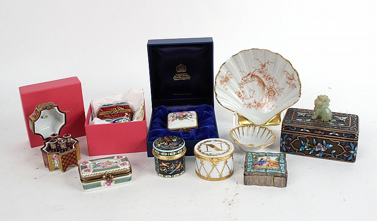 Chinese Enamel and Silver Metal Box