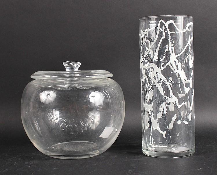 Tiffany & Company Glass Apple Form Jar