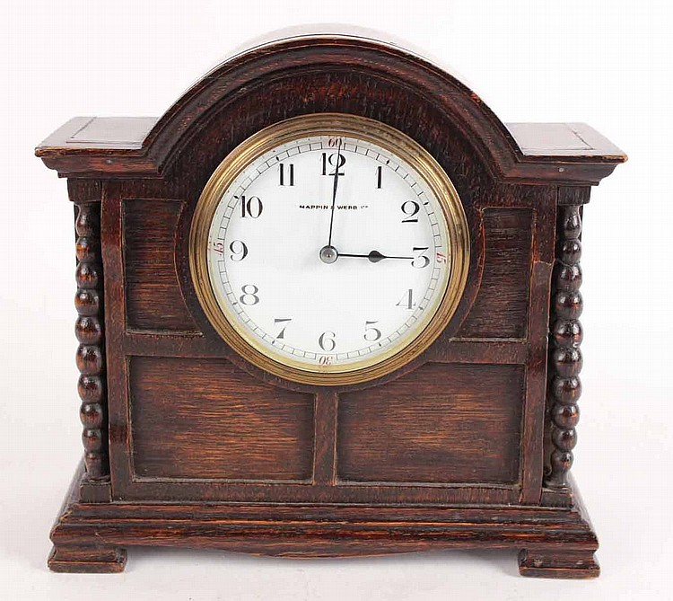 Arts and crafts style oak mantel clock for Arts and crafts clocks for sale