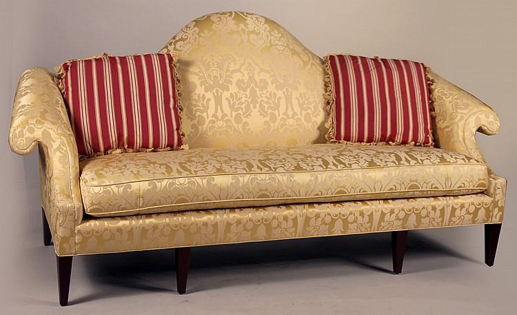 baker furniture georgian style camelback sofa