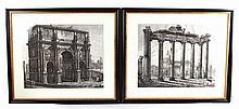 Two Architectural Prints, Luigi Rossini Ravenate