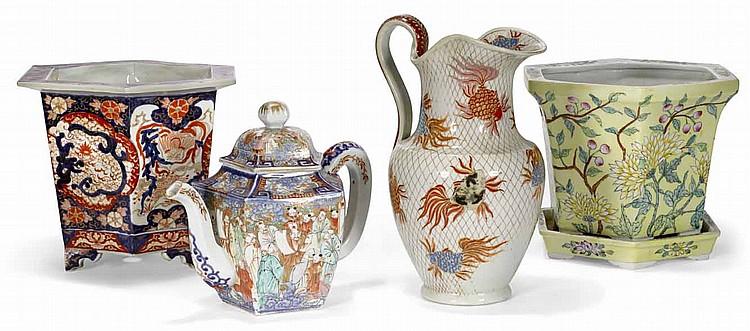 Four Asian Porcelain Table Articles