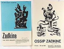 Two Gallery Posters, Ossip Zadkine