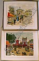 A FRAMED LITHOGRAPH, Urbain Huchet, Click for value