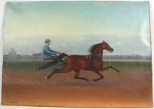 John McAuliffe, Oil on Canvas, Harness Racer