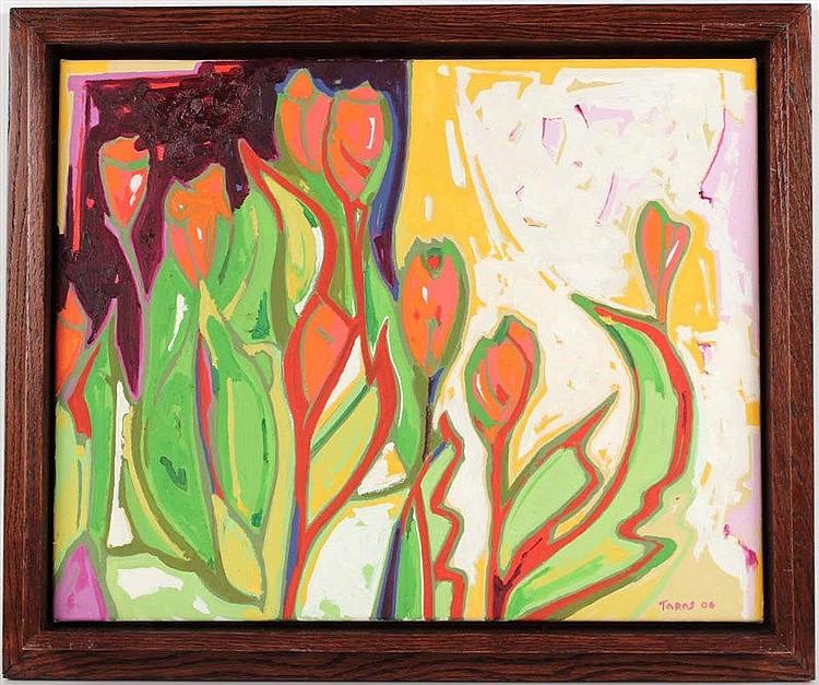 Oil on Canvas, Tulips, Taras Borovyk
