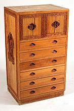 Chinese Carved Hardwood Tall Cabinet