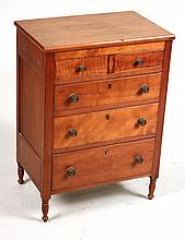 Federal Style Diminutive Tall Chest of Drawers