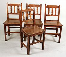 Four Similar Oak Side Chairs