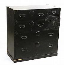 Chinese Style Black-Painted Cabinet