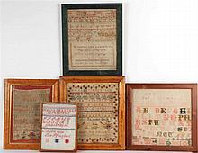 Five Framed Samplers
