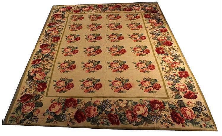 Rose-Decorated Needlework Carpet