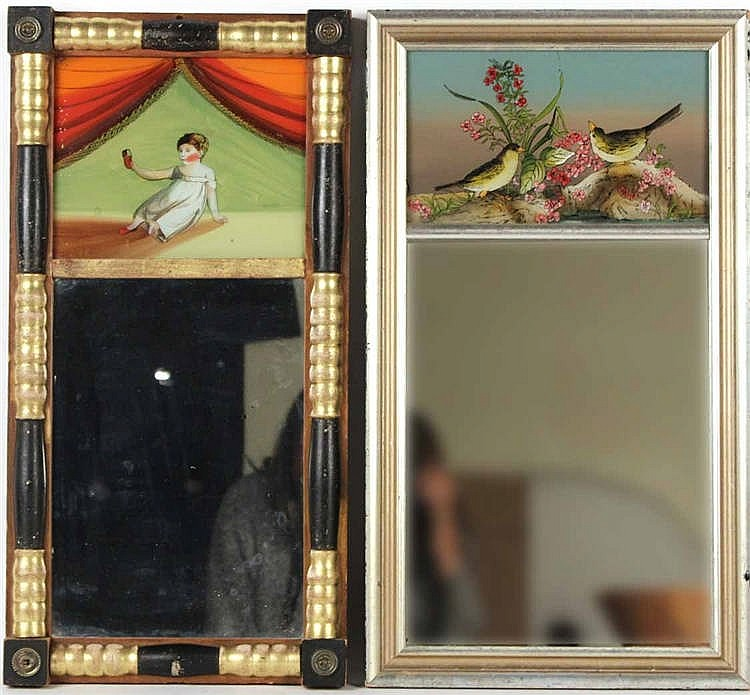 Two Egliosme Painted Wall Mirrors