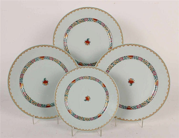 Partial French Porcelain Dinner Service