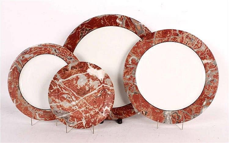 Italian Marbleized Porcelain Dinnerware