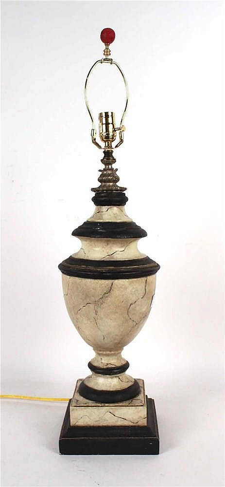 Faux Marble Urn Form Table Lamp