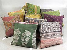 Indian Kantha Quilt Throw Pillows