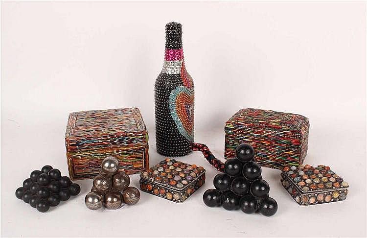 Three Cannon Ball Table Ornaments