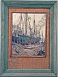 A FRAMED OIL ON BOARD, Junius Allen, Click for value