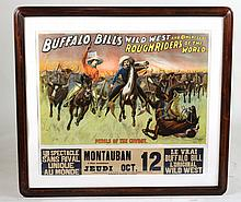 Lithograph, Buffalo Bill's Wild West, French