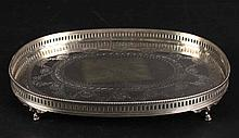 Gorham Sterling Reticulated Footed Salver