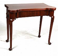 Queen Anne Mahogany Games Table