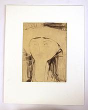 Graphite and Crayon on Paper, Amedeo Modigliani