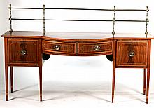 George III Mahogany Sideboard with Brass Gallery