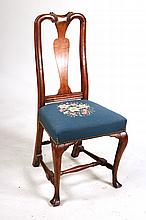 Queen Anne Carved Maple Side Chair