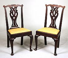 Pair of George I Elmwood Side Chairs