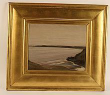 Oil on Panel, Seascape, David Young Cameron