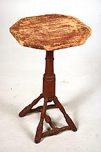 Red-Painted Windsor Candlestand