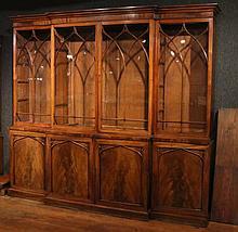 William IV Mahogany Breakfront Bookcase