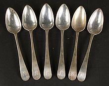 Six Sterling Silver Table Spoons, 1806 Edinburgh