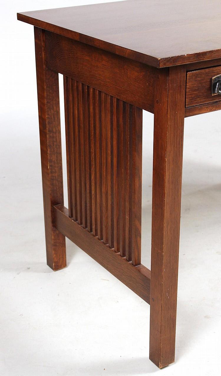 Arts And Crafts Stickley Oak Writing Desk