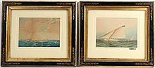 Watercolor, Marine Scene, J.E. Buttersworth